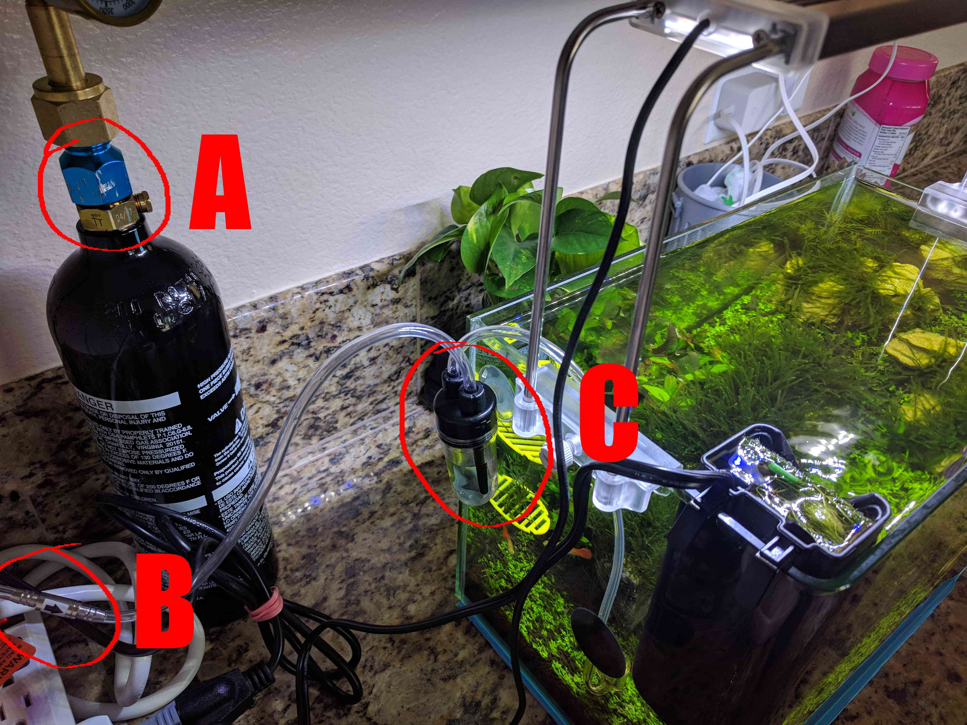 The beginners $100 paintball aquarium CO2 system - The Good